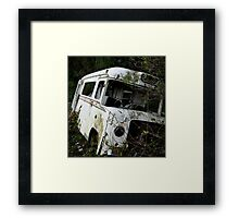 An Old Ambulance in a Field Framed Print