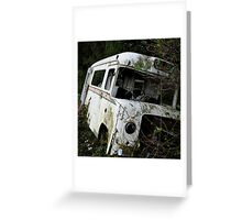 An Old Ambulance in a Field Greeting Card