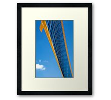 Beach Volleyball net abstract Framed Print