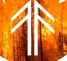 Forest Fire - Flames Sticker