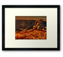 Sun setting on the Grand Canyon Framed Print