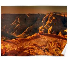 Sun setting on the Grand Canyon Poster