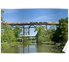 Crossing The Trestle Poster