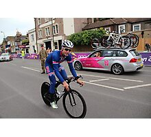 Taylor Phinney - at Olympic Time Trial London 2012 Photographic Print