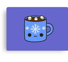Mug of hot chocolate with cute marshmallows Canvas Print