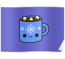 Mug of hot chocolate with cute marshmallows Poster