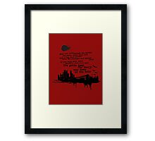 """""""Way Down In The Hole"""" - The Wire - Dark Framed Print"""