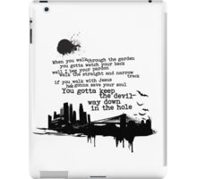 """""""Way Down In The Hole"""" - The Wire - Dark iPad Case/Skin"""