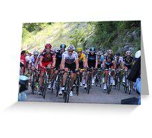Tour de France Peloton - Col du Grand Colombier 2012 Greeting Card