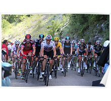 Tour de France Peloton - Col du Grand Colombier 2012 Poster