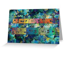 Dancing Notes Blue Greeting Card