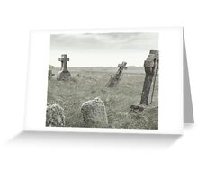 spooky grave yard Greeting Card