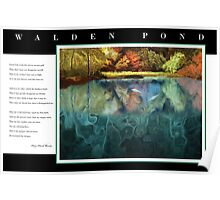 Tribute to Henry David Thoreau, Walden Pond with Poem Poster