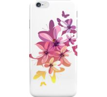 Butterfly Flowers iPhone Case/Skin
