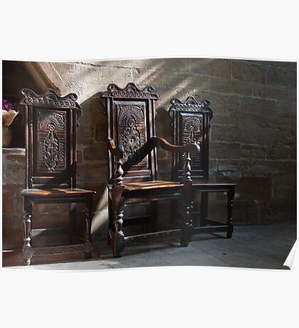 Southwell Minster-Three chairs Poster