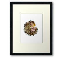 Sophie the Sleepy Hedgehog Framed Print