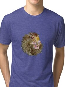 Sophie the Sleepy Hedgehog Tri-blend T-Shirt