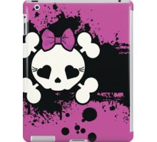 Purple Goth Sugar Skull iPad Case/Skin