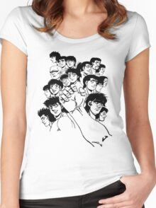 Hajime  No Ippo - Group Women's Fitted Scoop T-Shirt