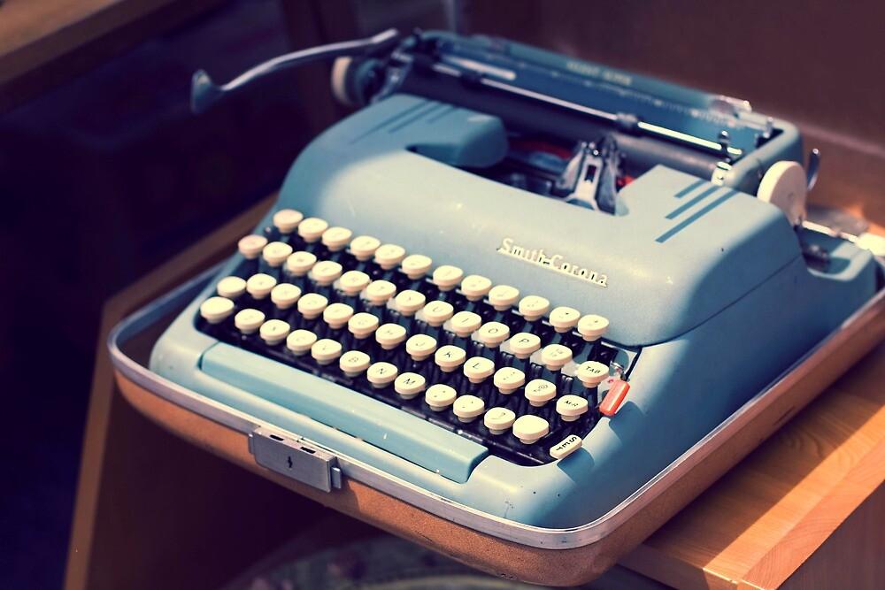 Vintage Baby Blue Typewriter by MissMoll