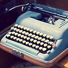 Vintage Baby Blue Typewriter by MissMoll