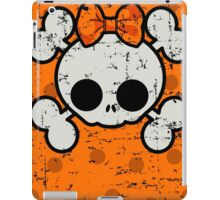 SUGAR SKULL ON ORANGE GRUNGE iPad Case/Skin