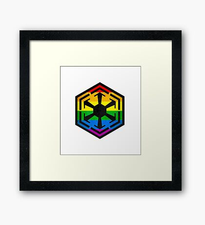 Rainbow Sith Framed Print