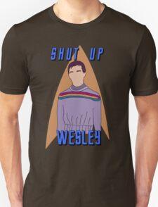"Wesley Crusher - ""Shut Up Wesley"" - Star Trek the Next Generation T-Shirt"
