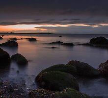 calm sunset by JorunnSjofn Gudlaugsdottir