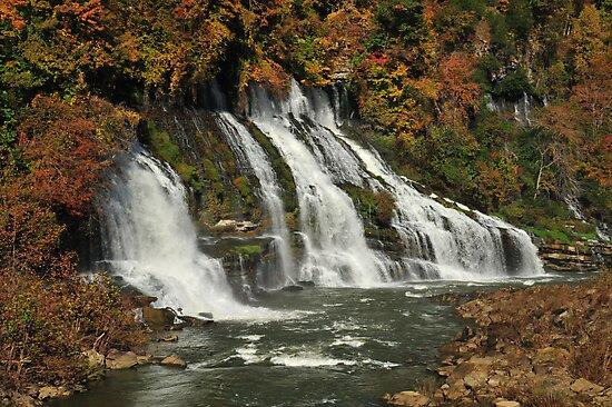 Twin Falls, Rock Island State Park, Tennessee by LynnRoebuck