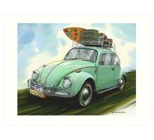 VW Beach Party Bug  Art Print