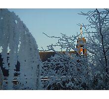 Winter scene with church II Photographic Print