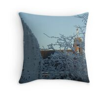 Winter scene with church II Throw Pillow