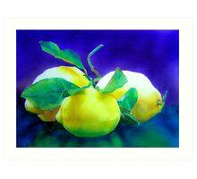 Amalfi Lemons Art Print