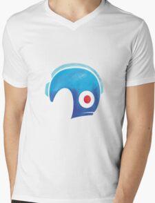 Mega Man Helmet Shirt or Hoodie Mens V-Neck T-Shirt
