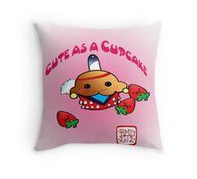 Cute as a cupcake! Throw Pillow