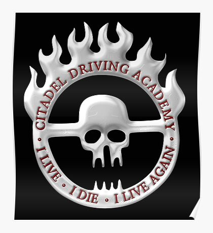 Citadel Driving Academy - White Poster