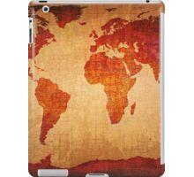 World Map Grunge Styled iPad Case/Skin