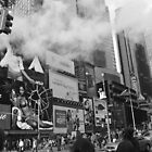 Black and white Times Square. by skylark1210