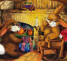 HOLIDAY SEASON IN THE RABBIT HOLE by Colette van der Wal