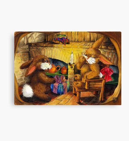 HOLIDAY SEASON IN THE RABBIT HOLE Canvas Print