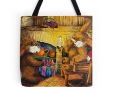 HOLIDAY SEASON IN THE RABBIT HOLE Tote Bag