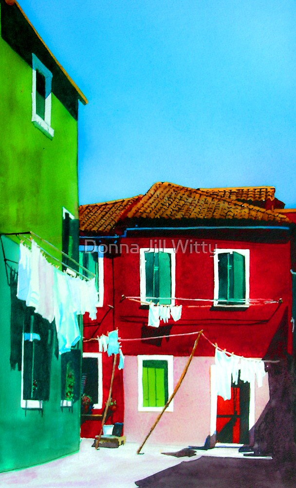 Burano Laundry by Donna Jill Witty