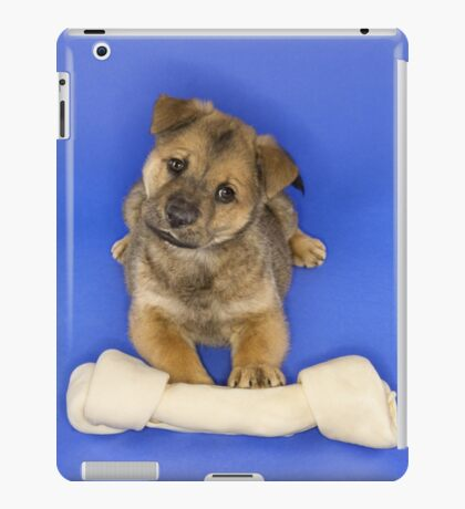 Puppy With a Large Bone iPad Case/Skin