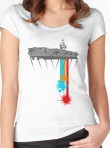 Crabwalk Carrier? Women's Fitted Scoop T-Shirt