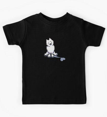 Samoyed Love Shadow Kids Tee