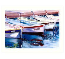 Cassis Harbour Art Print
