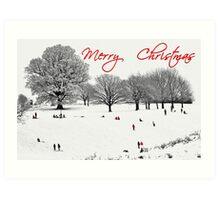 Christmas Sledging Art Print