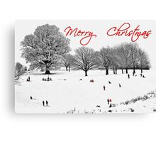 Christmas Sledging Canvas Print
