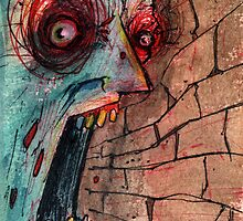 screaming zombie by byronrempel